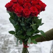 "19vnt Raudonos rožės ""Toskana"""