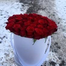 """Dėžutė raudonų rožių """"Mirabell"""""""