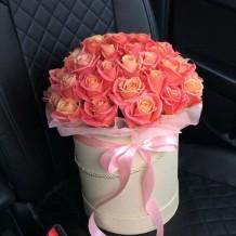 """Koralinių rožių dėžutė """"Paola"""""""