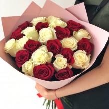 """Puokštė rožių 25vnt """"Ametista"""""""