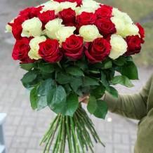 """Puokštė rožių 49vnt """"Adžary"""" 55€/75€/115"""