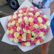 """Puokštė rožių """"Aroma"""" 101vnt"""