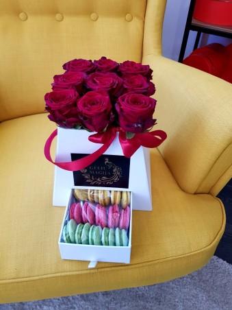 """Rožių dėžutė su saldumynais """"Tatum"""""""