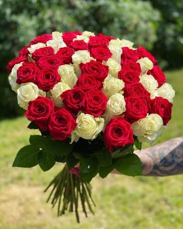 """Rožių puokštė """"Gloria"""" (51vnt)"""